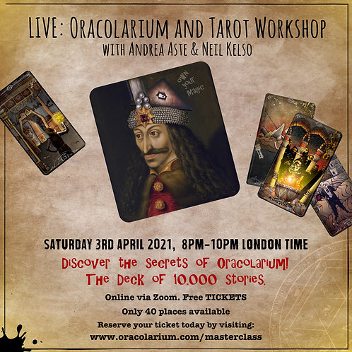 Live Zoom Masterclass: Sat 3 April 2021