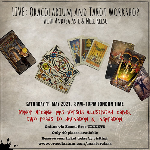 Live Zoom Masterclass: Sat 1st May 2021