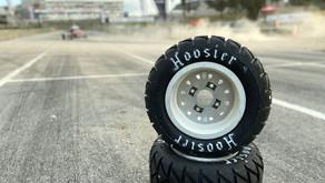 Pneus Hoosier com teste positivo para o Kartcross