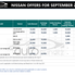Discount & Offers on Nissan models for September 2021