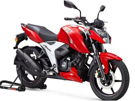 The new Lighter and More Powerful TVS Apache RTR 160 4V