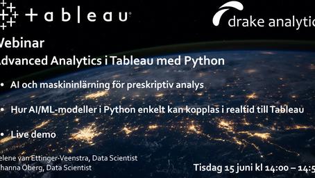 Webinar: Advanced Analytics i Tableau med Python