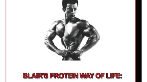 Rheo Blair's Protein Way of Life: A Special Nutrition report