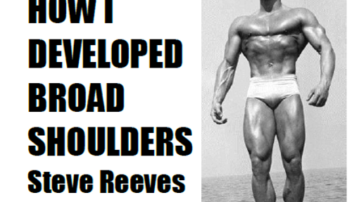 Developing Broad Shoulders by Steve Reeves ebook