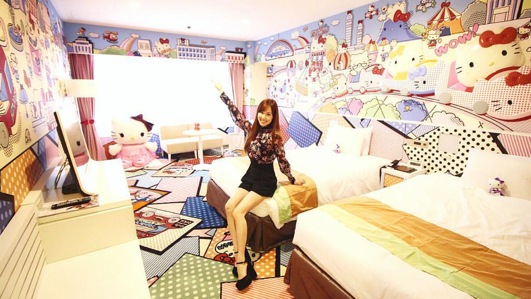 Hello Kitty Hotel Room Collaboration