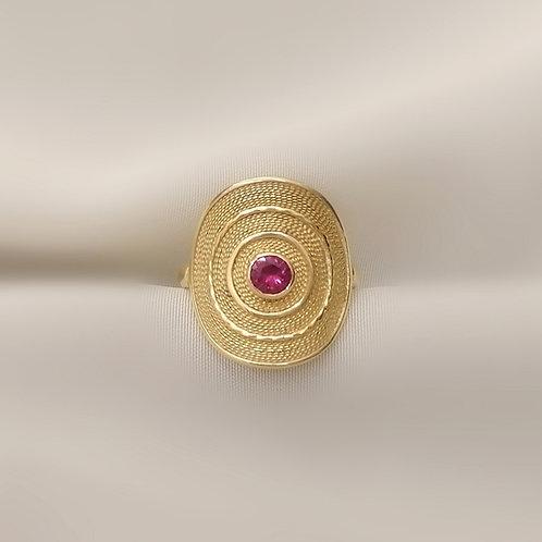 Filigree Ruby Ring