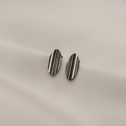 Oval Textured Earrings S
