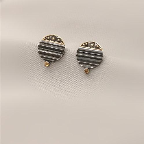 Filigree Citrine  Earrings