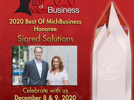 2020 Best of MichBusiness Honoree!