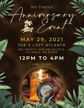 Irie Essence 2nd Anniversary Event Flyer