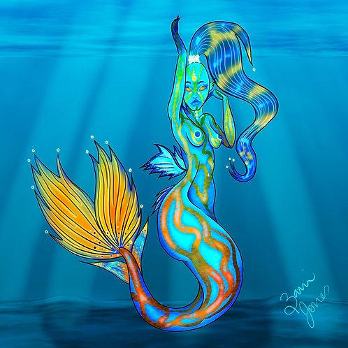 Mandarinfish Mermaid Print
