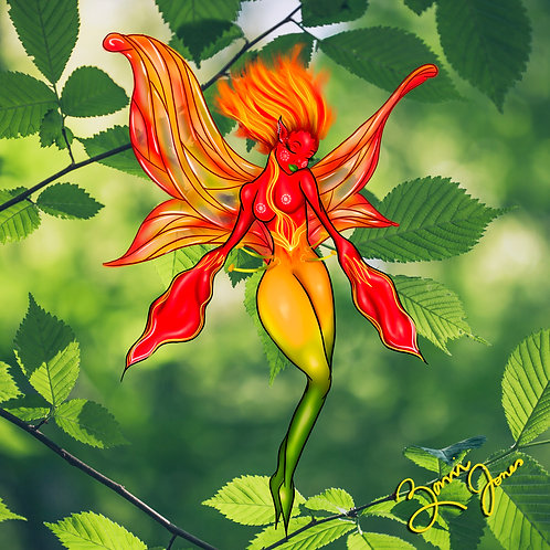 Flame Lily Print