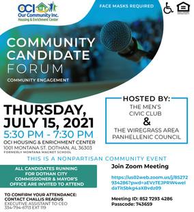 Community Candidate Forum E-Flyer