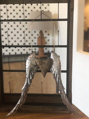 Flügel Herz Metall