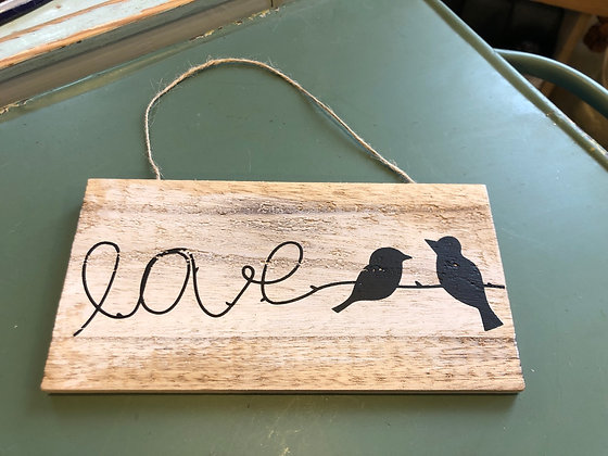 Hänger Holz  Love