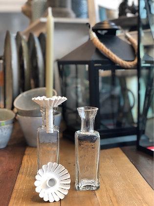 Flasche mit Kerzenstecker