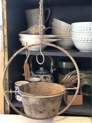 Blumenampel Metall Vintage