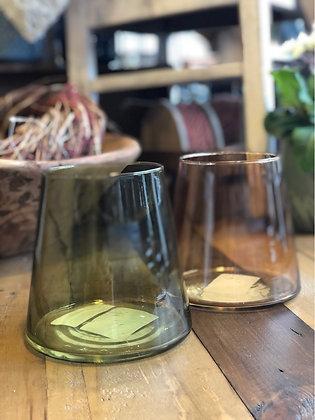 Windlicht Vase Glas grün