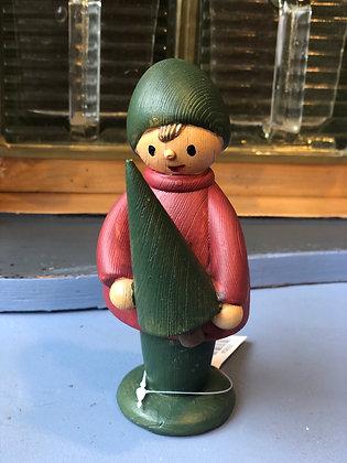 Junge mit Baum Holz