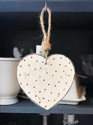 Hänger Herz Holz Shabby klein