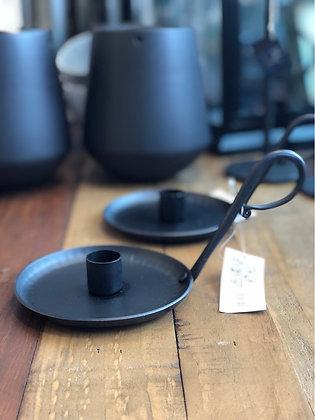 Kerzenhalter  Eisen schwarz groß