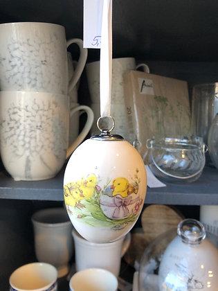 Ei Keramik Küken mit Eierschale
