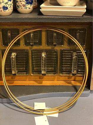 Deko Ring Metall  goldfarben  30 cm