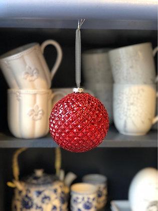 Weihnachtskugel  rot