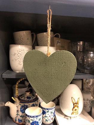 Herz Holz grün
