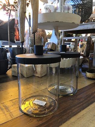 Kerzenhalter  Metall/Glas