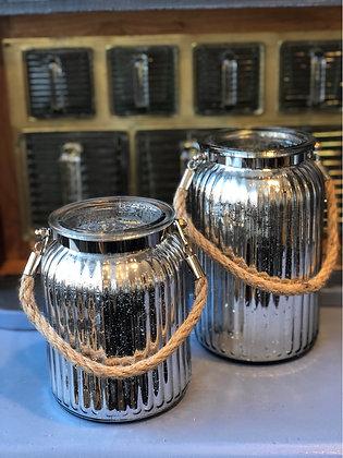 Windlicht Vase Glas klein