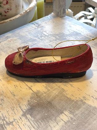Deko Schuh  mit Schleife Rot