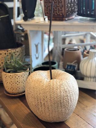 Apfel  Polyresin groß