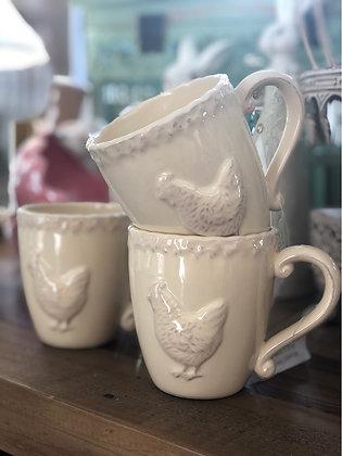 Becher  Keramik Creme