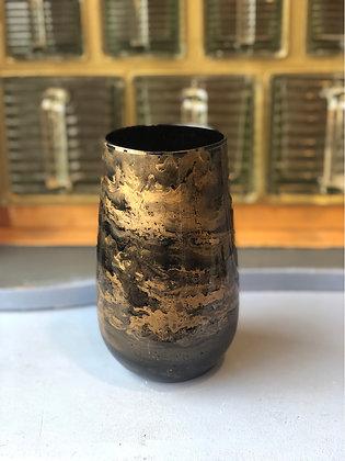 Vase  Gold  Schwarz