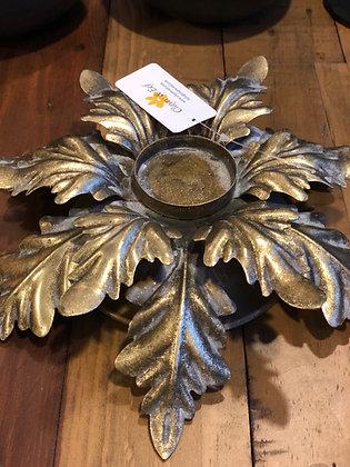 Teelichthalter  Kerzenhalter  goldfarben