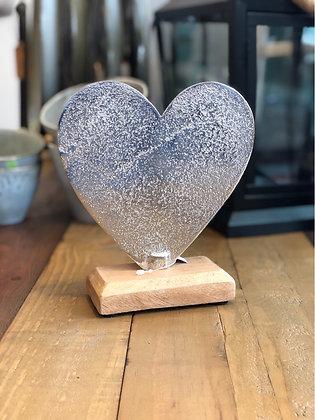 Herz Metall Holz