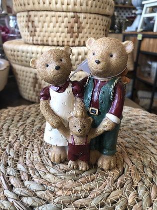 Teddy Familie Polyresin