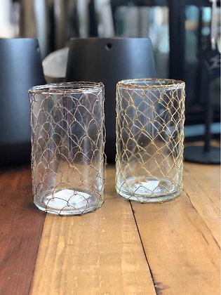 Glas Set  mit Draht
