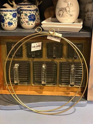 Deko Ring Metall goldfarben 30cm