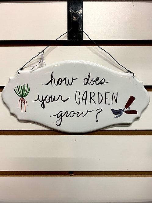 Enamel Garden Sign