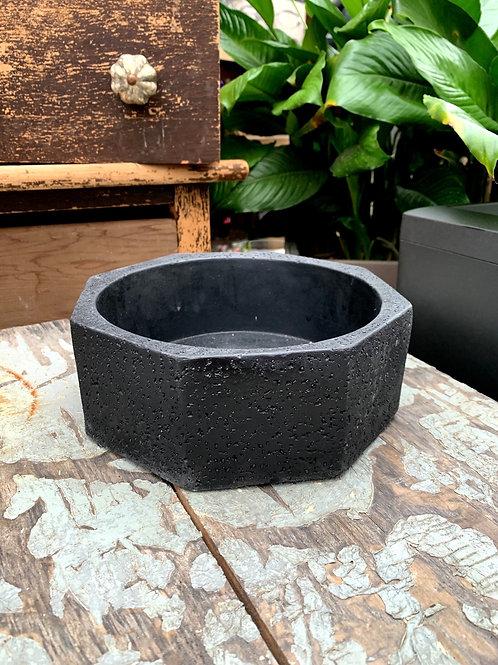 "Hexagon Stone Cold Bowl Planter 8.25"""