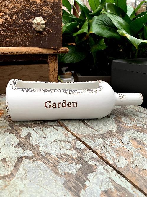 "Garden Wine Bottle Planter 11.25"""