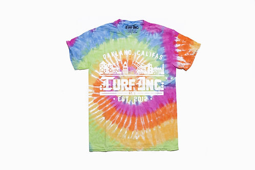 GOOD VIBES #TURFinc Tie Dye T-Shirt (Sherbert)