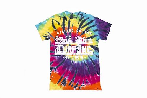 GOOD VIBES #TURFinc Tie Dye T-Shirt (Dark Nights)