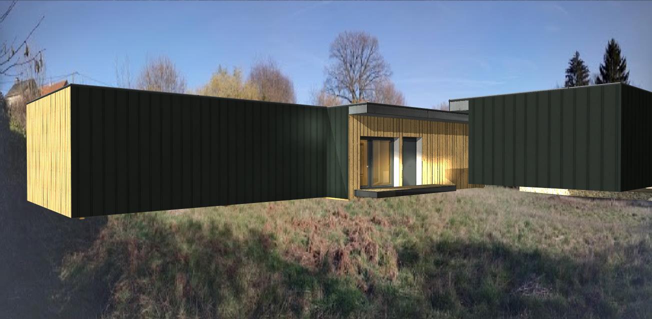 Villa Guéret coté Garage