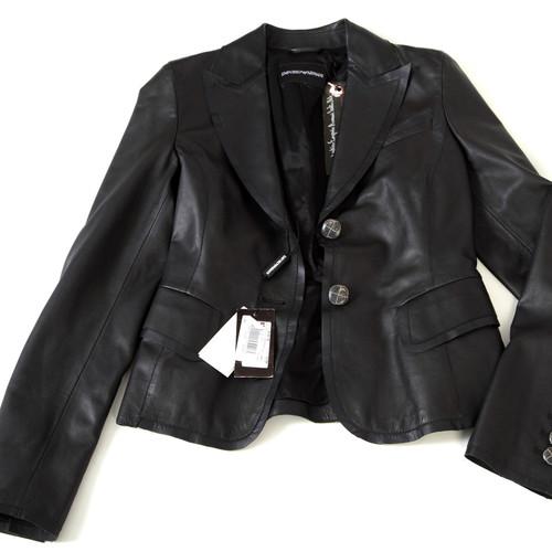 Women's leather jacket blazer