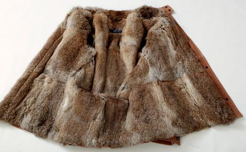 15addd063b922 Dolce   Gabbana Rabbit Fur   Buffalo Leather Jacket Brown EU50 Large