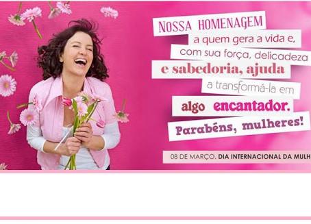 Dia 8 de março é consagrado para homenagear as mulheres