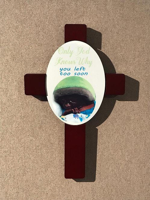 Kruis met Photo en/of tekst naar keuze